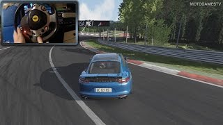Assetto Corsa [PC] - Porsche Panamera G2 Turbo Gameplay [Thrustmaster WheelCam]