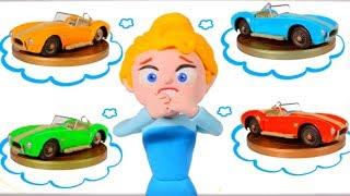 PRINCESS NEW CAR ❤ Superhero Babies Play Doh Cartoons For Kids