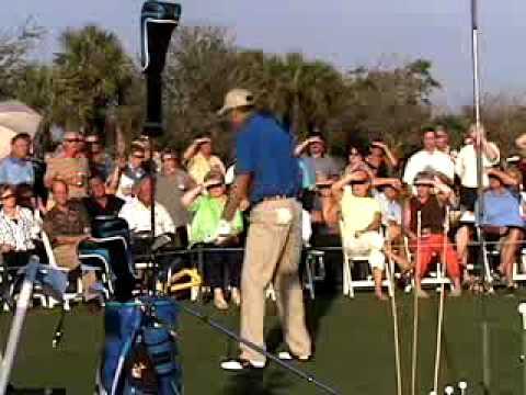 "Comedy Golf Trick Shot Guy Brad Denton shows the ""..."