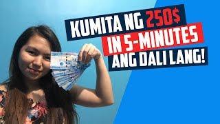 Paano kumita online 250$ in 5mins 2019 (ANG DALI LANG GRABE!)
