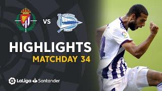 Highlights Real Valladolid vs Deportivo Alavés (1-0)