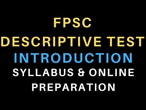PPSC Test Preparation Data Download | Syllabus has been
