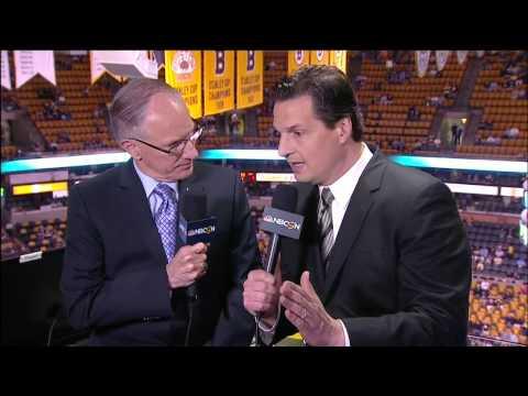 NBC Sports NHL Live 6/5/13. Shawn Thorton, Duncan Keith, Pittsburgh Penguins vs Boston Bruins.