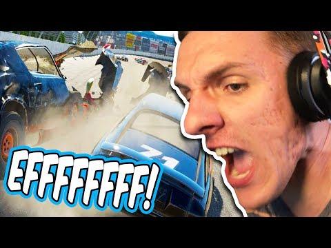 DO NOT ALLOW SMALL CHILDREN NEAR THIS GAME! // Wreckfest Online Racing