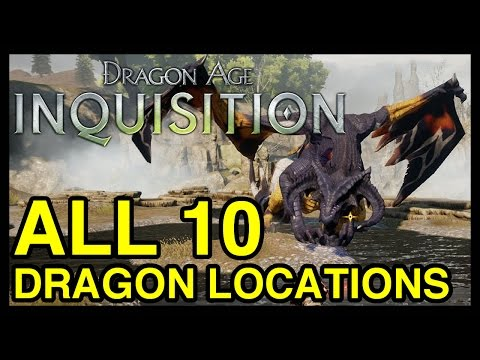 All 10 Dragon Locations - Dragon Age Inquisition (Dragon's Bane Achievement)