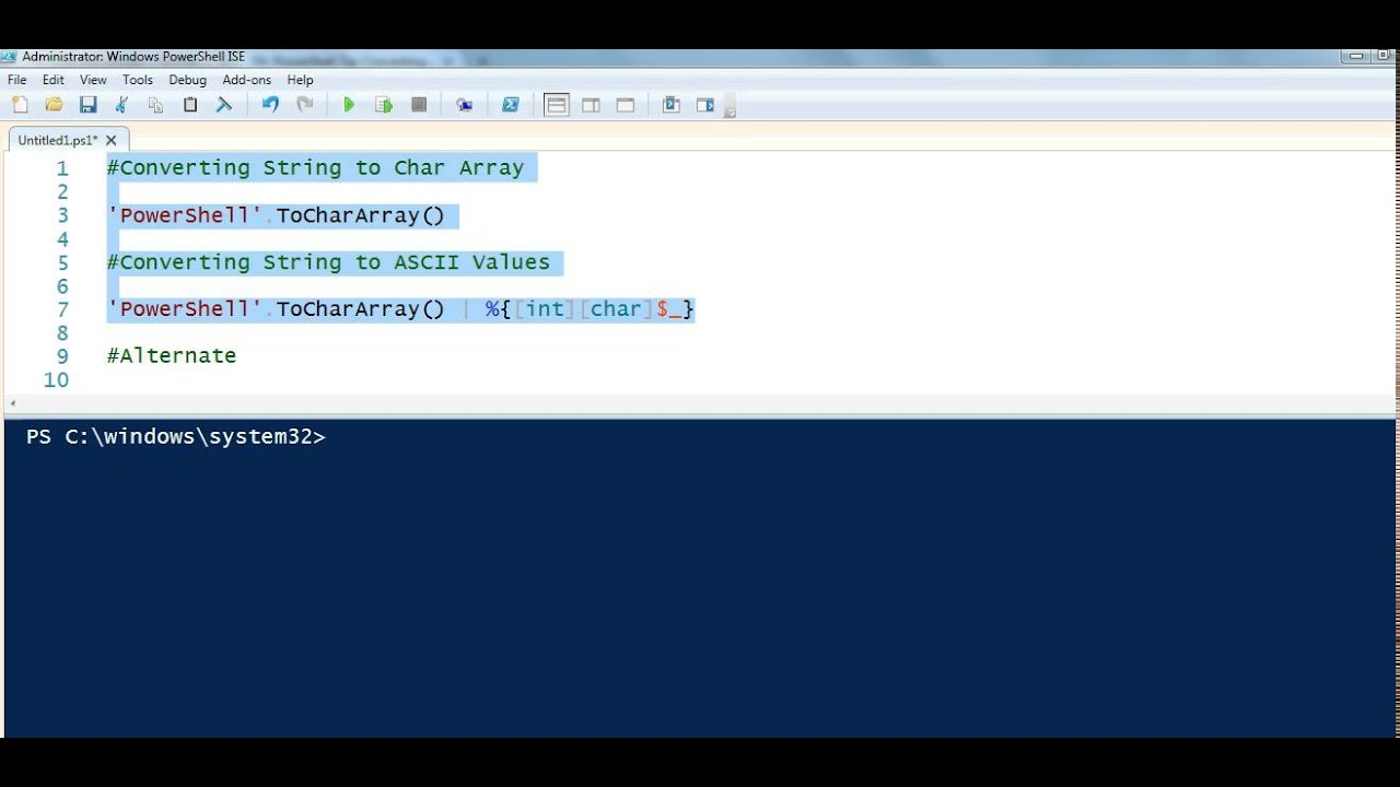PowerShell Tip Converting String to Character Array   TechNet ...