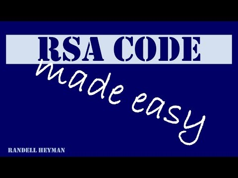 RSA code made easy