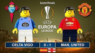 Celta Vigo vs Manchester United 0-1 • Europa League 2017 • Highlights Lego Football • Man Utd