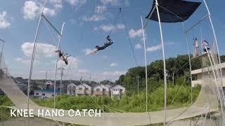 先日初めて空中ブランコに挑戦された方が1レッスン中に新しい技を二つも成功させました。 www.trapezeheroes.com.