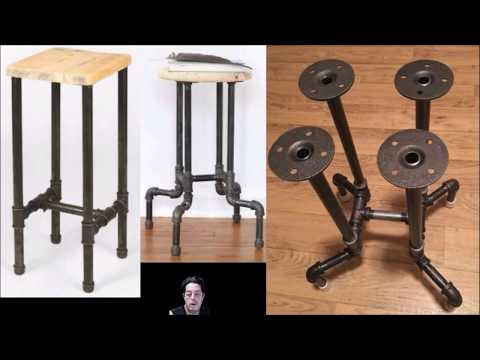 Making a Stool or Table From Steel or Using Galvanized Pipe