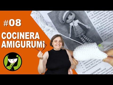 COCINERA AMIGURUMI 08 cocinero tejido a crochet pies