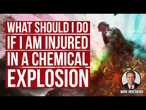 What should I do if I am injured in a chemical explosion?
