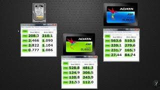 HDD WD против SSD дисков ADATA обзор и сравнение SU650 и SU800 | hdd vs ssd