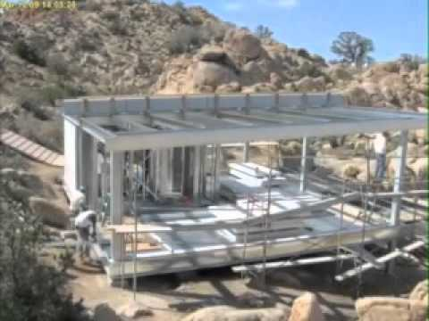 Casas con estructura de acero youtube for Modelos de techos metalicos para casas