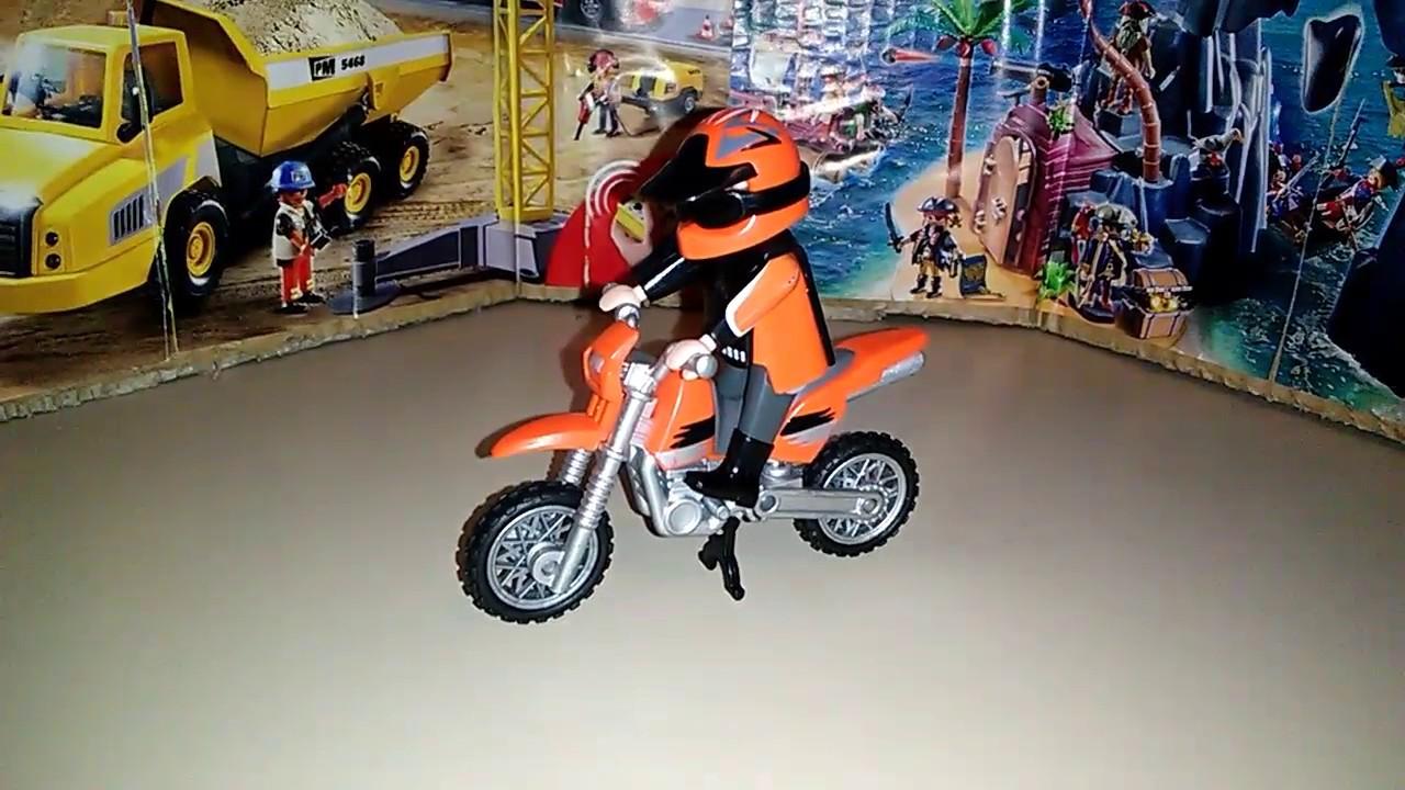 Playmobil 5115 moto de cross youtube - Moto cross playmobil ...