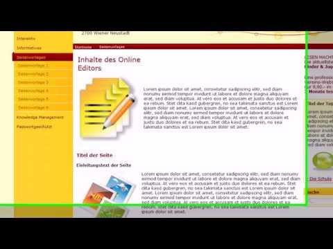 Seiten einfach und schnell mit Vorlagen erstellen - Schulweb ...