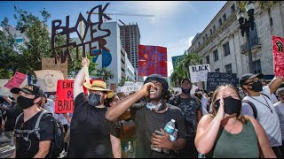 Miami protests against cop brutality following death of George Floyd