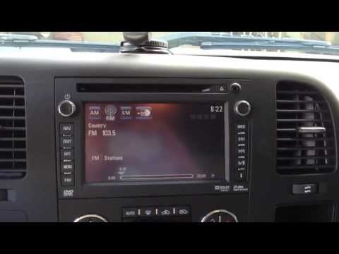 2012/2013 GM HDD Navigation Radio FM and XM Functions