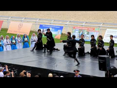 Caucasus national djigit dance with full adrenalin and energy 1