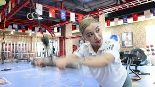 GLOBALink | Xinjiang female fitness instructor challenges stereotype with strength