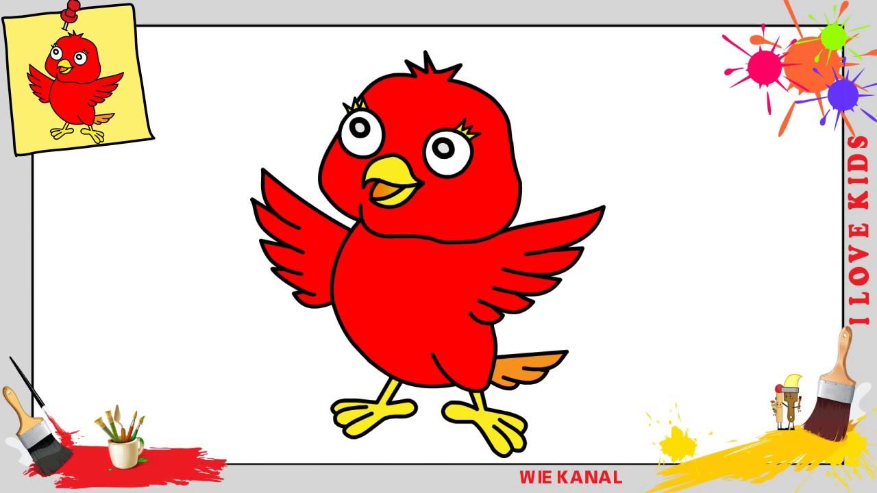 Kawaii Vogel Zeichnen Schritt Für Schritt Für Anfänger Kinder