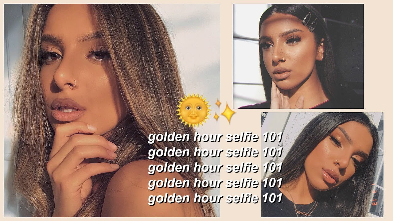 HOW TO TAKE + EDIT THE PERFECT GOLDEN HOUR SELFIE! (USING ONLY AN IPHONE)