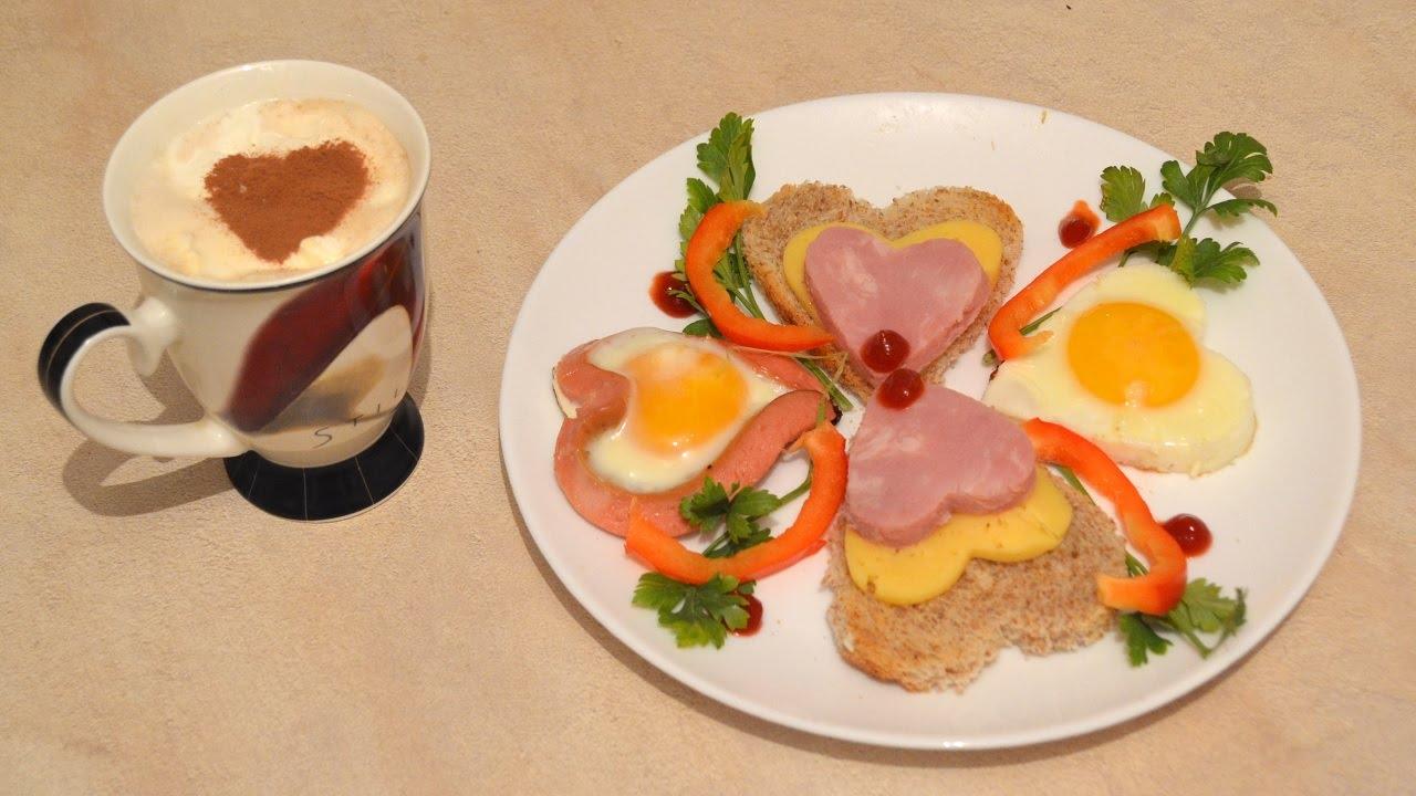 красивый завтрак для любимого фото