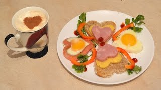 Завтрак любимой на 14 февраля.Как приготовить сюрприз любимой! Вкусный сюрприз любимой!