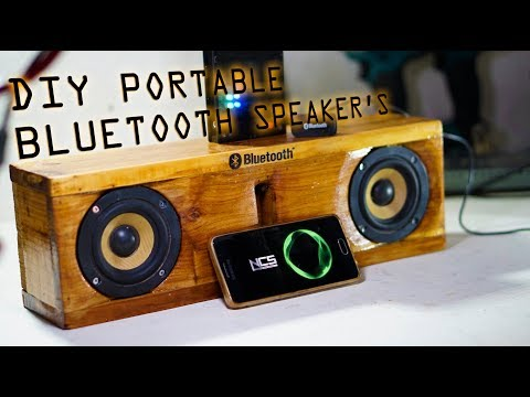 DIY Portable Bluetooth Speakers Build