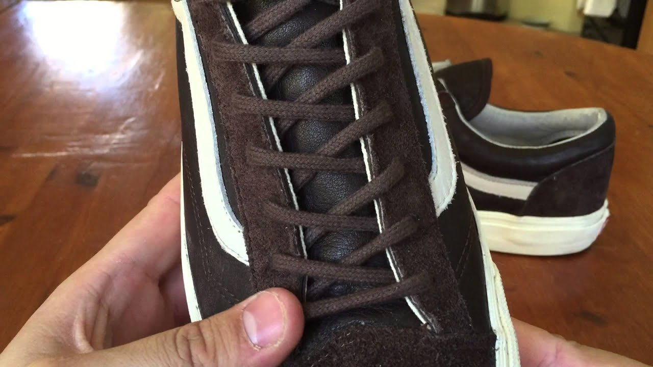 394541e1ff84e0 Shoe Review  Vans Vault Originals  Premium Leather  Style 36 LX (Coffee  Bean)