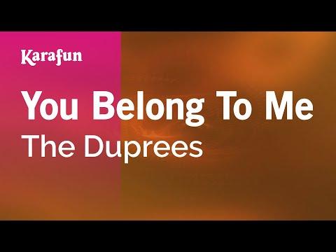 Karaoke You Belong To Me - The Duprees *