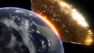meteor crashing into earth