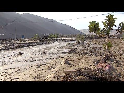 Devastadora crecida de río Acha en Arica