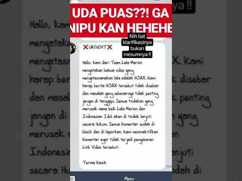 Klarifikasi Marion Jola Indonesian Idol 2018 atas skandal video s*x yang mirip dengan dirinya.Part 1