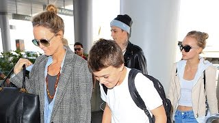 Vanessa Paradis, Son John Depp and Lily-Rose And Her 24-Year-Old Boyfriend Ash Stymes