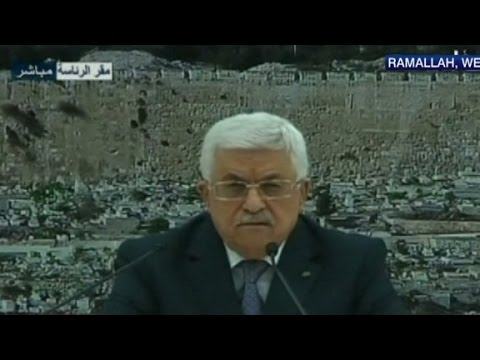 Palestinian president announces Gaza ceasefire