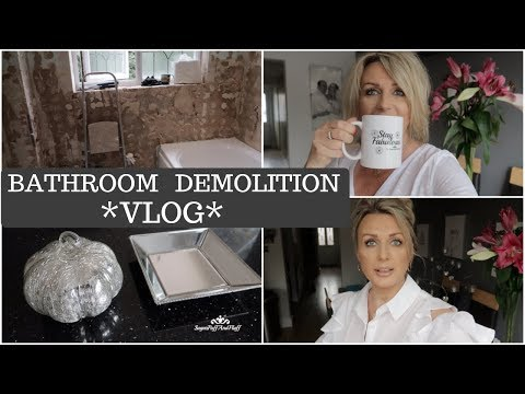 Bathroom Demolition Begins - *Monday Vlog*