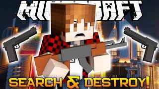 Minecraft: BOMB PLANT KING! Search & Destroy Mini-Game Challenge! (Guns in Minecraft!)