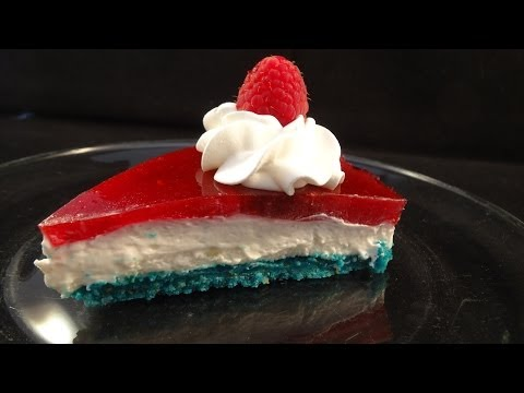 Red White and Blue 4th of July Cheesecake: Collaboration with CookingAndCrafting and Cookedbyjulie