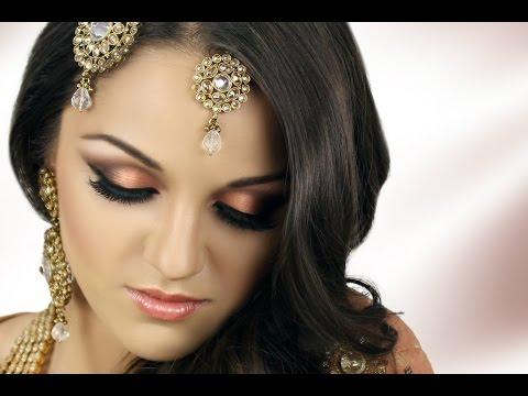 Asian Bridal Makeup Tutorial - Peach Smokey Eye