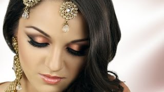 asian bridal makeup tutorial peach smokey eye