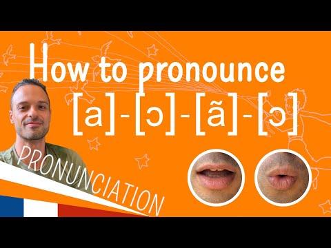 The nasal vowels [ã], [ɛ̃], [œ̃] and [õ] - French pronunciation in context