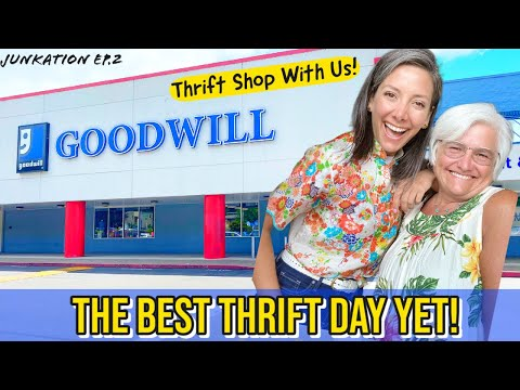 Thrift Shopping! Thrift With Us at the Best Goodwill Yet!