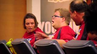 The Biggest Loser day 1 in the gym with Jillian