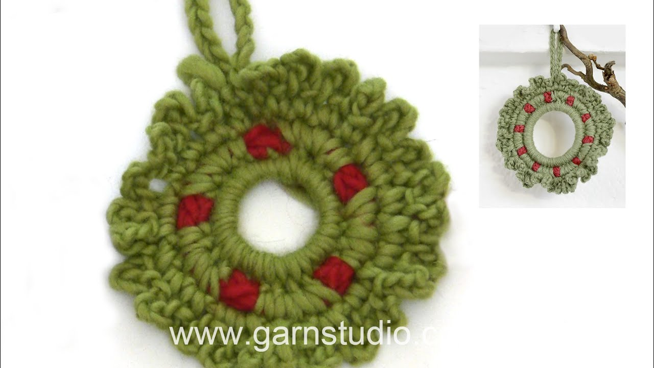How To Crochet The Little Christmas Wreath In Drops Extra 0 1210