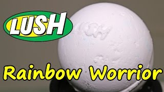 Lush - Rainbow Worrior Bath Bomb - DEMO - Underwater View - Review