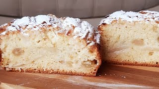 Пирог на раз два три всего 5 минут на замес !Яблочно-виноградная шарлотка на ряженке!