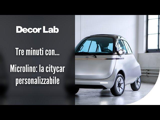 Tre minuti con Microlino: la citycar personalizzabile