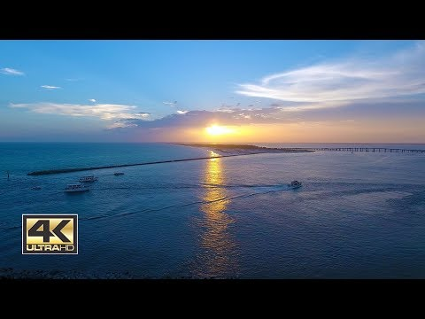 Destin Harbor at Sunset 4K (2HR Loop) - Calm Relaxing Meditation 4K Screensaver