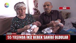 55 yaşında ikiz bebek sahibi oldular
